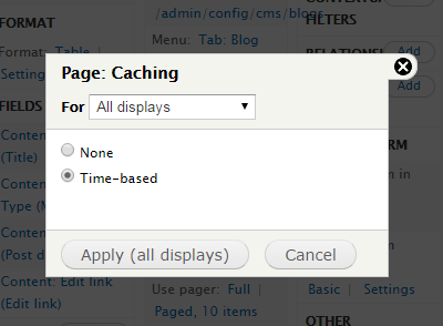 Drupal - Views caching 2
